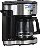 Hamilton Beach 2-Way Brewer Coffee Maker, Single-Serve and 12-Cup Pot, Stainless Steel (49980A),...
