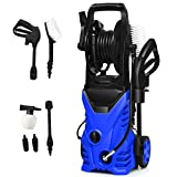 Goplus Electric Pressure Washer High Power Machine w/ 16.5ft Hose, Wash Brush, Soap Bottle, 2030PSI...