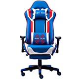 Nokaxus Gaming Chair Large Size High-Back Ergonomic Racing Seat with Massager Lumbar Support and...